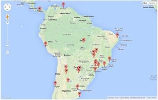 Site Visitors - South America